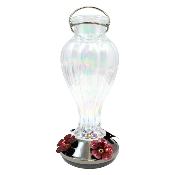 More Birds® Online-Exclusive Sky Blossom Hummingbird Feeder with Glass Bottle, 25 oz. Nectar capacity (#65045)