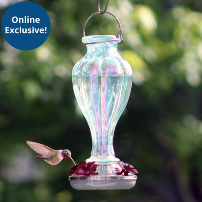 More Birds® Sky Blossom Hummingbird Feeder with Glass Bottle, 25 oz. capacity
