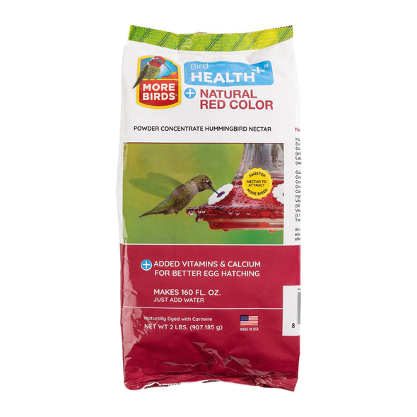 More Birds® Bird Health+™ Natural Red Powder Hummingbird Nectar Concentrate, 2 lb.