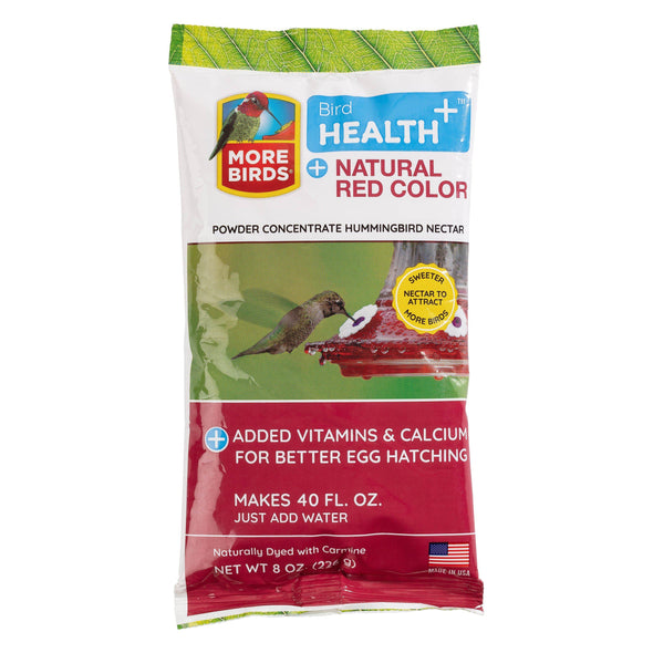 More Birds® Bird Health+™ Natural Red Powder Hummingbird Nectar Concentrate, 8 oz
