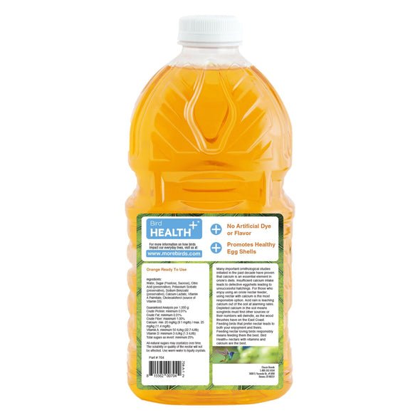 More Birds® Bird Health+™ Natural Orange Ready-to-Use Oriole Nectar, 64 oz. Accessory More Birds