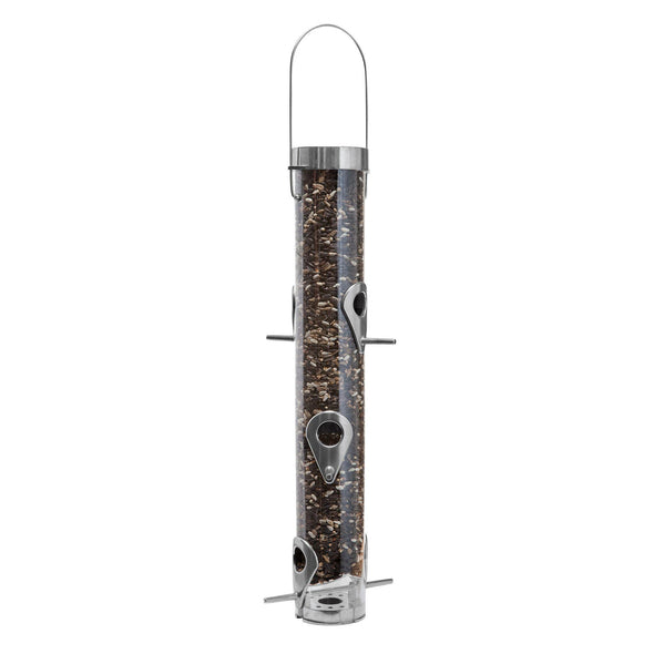 Droll Yankees A-6F Classic Bird Feeder for Sunflower Seed filled with bird seed