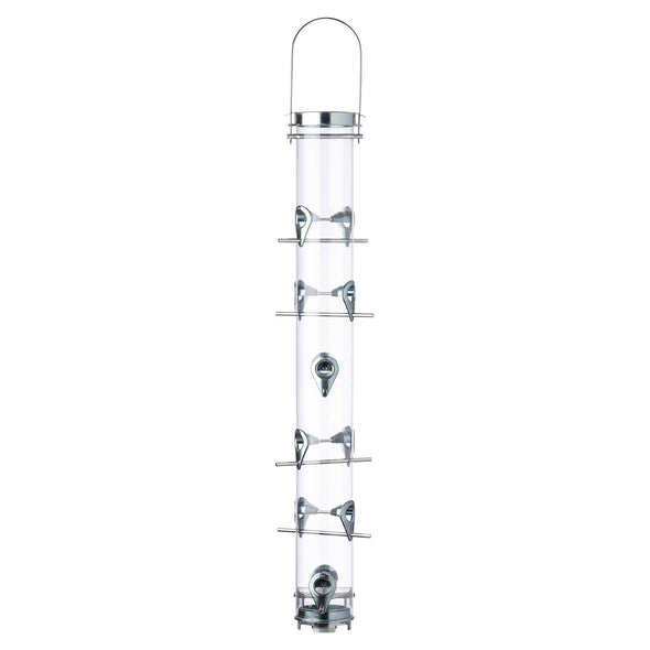 Droll Yankees® Classic B-Series Silver Sunflower Bird Feeder, 4 lb capacity, 30 in.