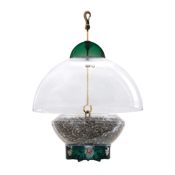 Droll Yankees Big Top Bird Feeder filled with bird seed