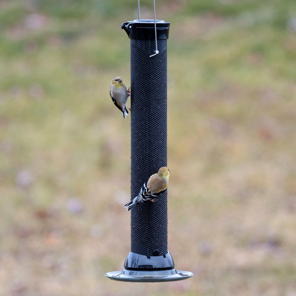 Droll Yankees® Onyx Clever Clean® Finch Screen Feeder with Easy Opening, 2 lb. capacity, 18 in. Bird Feeder Droll Yankees