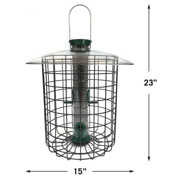 Droll Yankees Sunflower Domed Cage Feeder dimensions