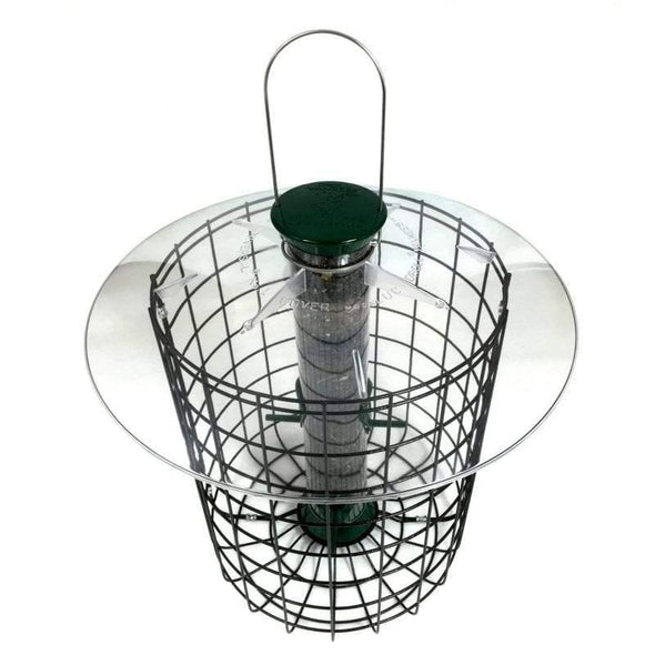 top of Droll Yankees Sunflower Domed Cage Feeder