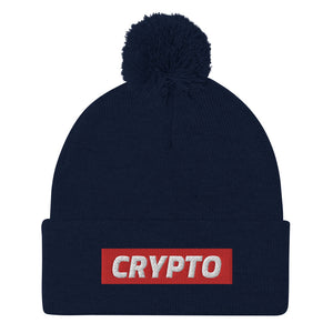 Crypto (Red Stripe) Pom Beanie
