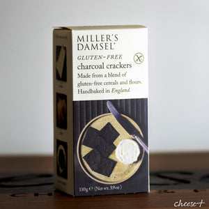 Millers Damsel Gluten-Free Charcoal Wafers - Rennet & Rind British Artisan Cheese