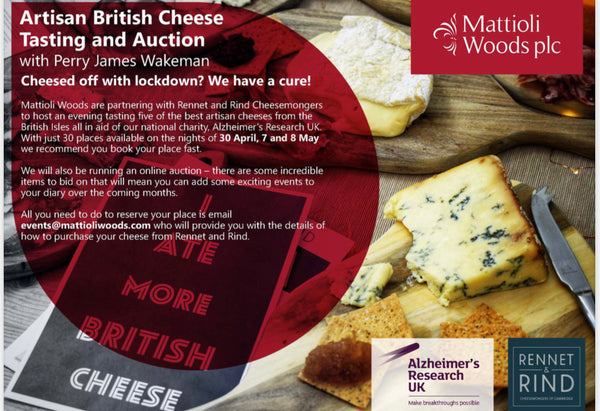 Mattioli Woods & ARUK British Cheese Tasting Evening - Rennet & Rind British Artisan Cheese