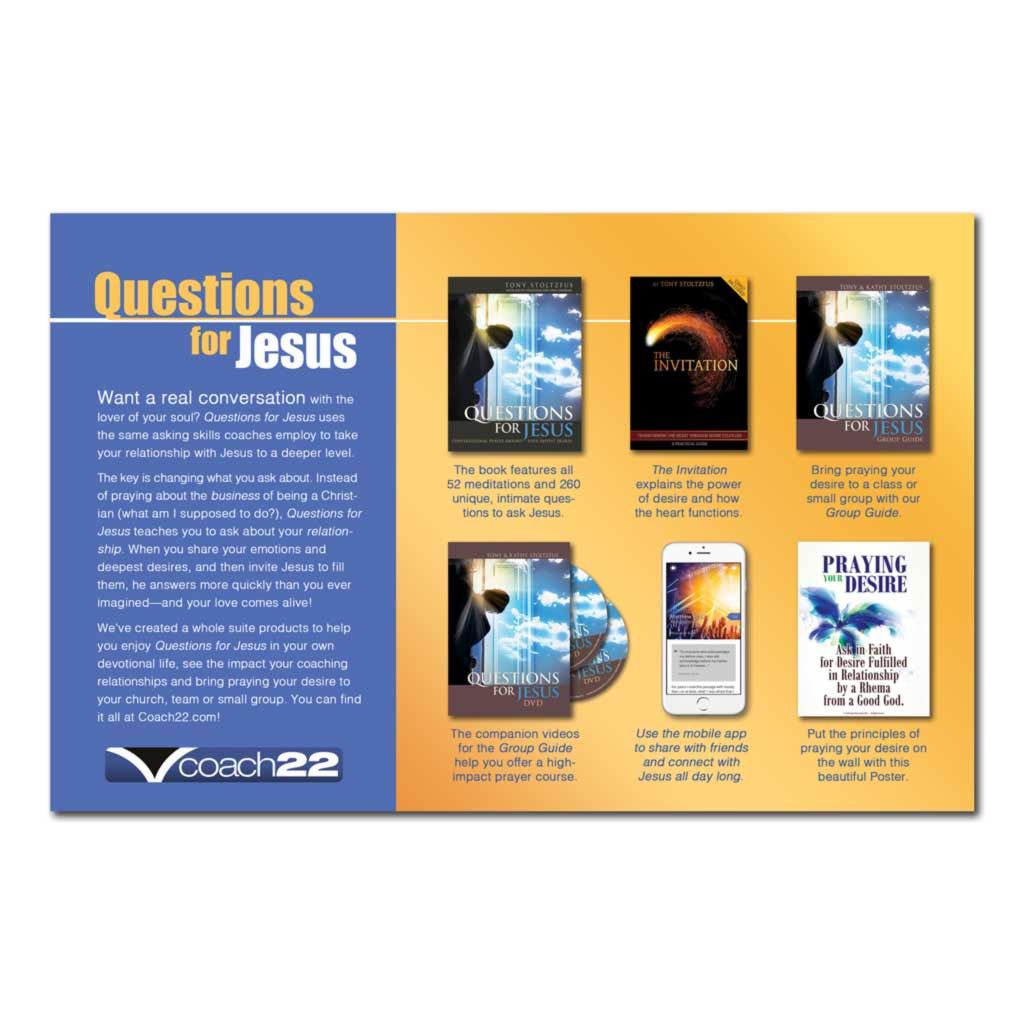 Questions for Jesus Poster