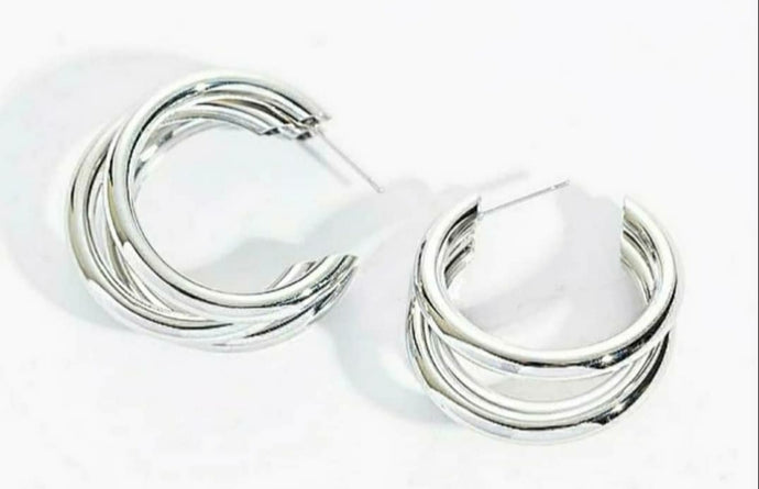 Silver Ring Earrings - Women's fashion jewellery - YOURSTYLISH