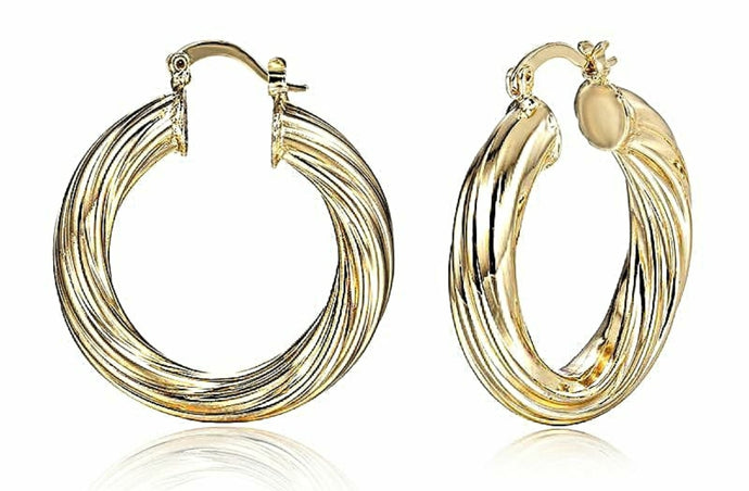 Gold Plated Hoop Earrings - Y O U R S T Y L I S H