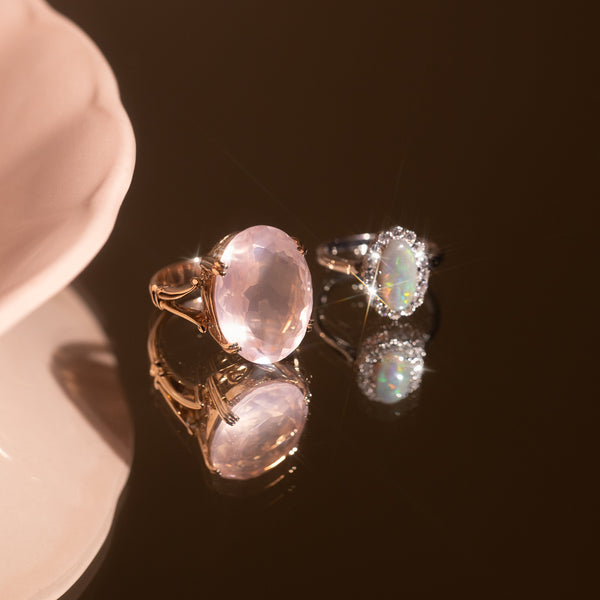 The Ana Vintage Rose Quartz Ring