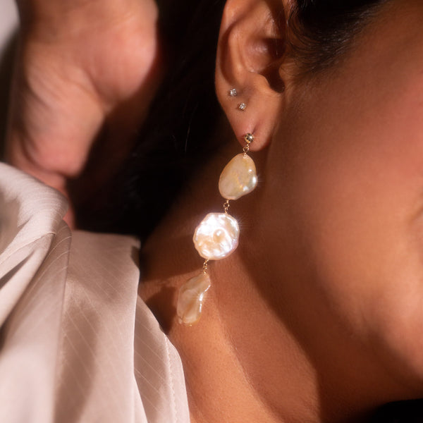 The Gold Petal Drop Earrings