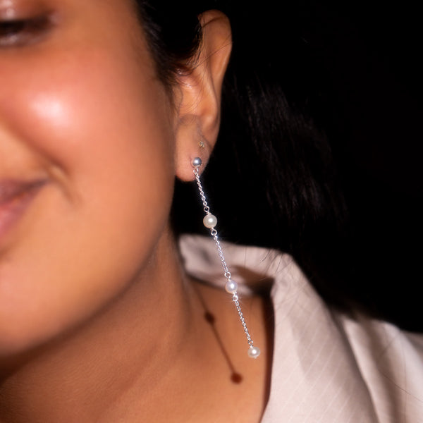 The Silver Plato Drop Earrings