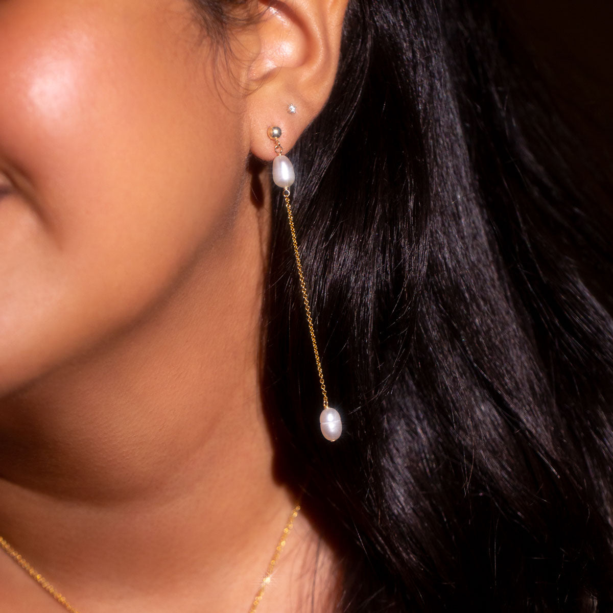 The Gold Dolly Drop Earrings