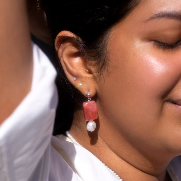 The Silver Cherry Drop Earrings