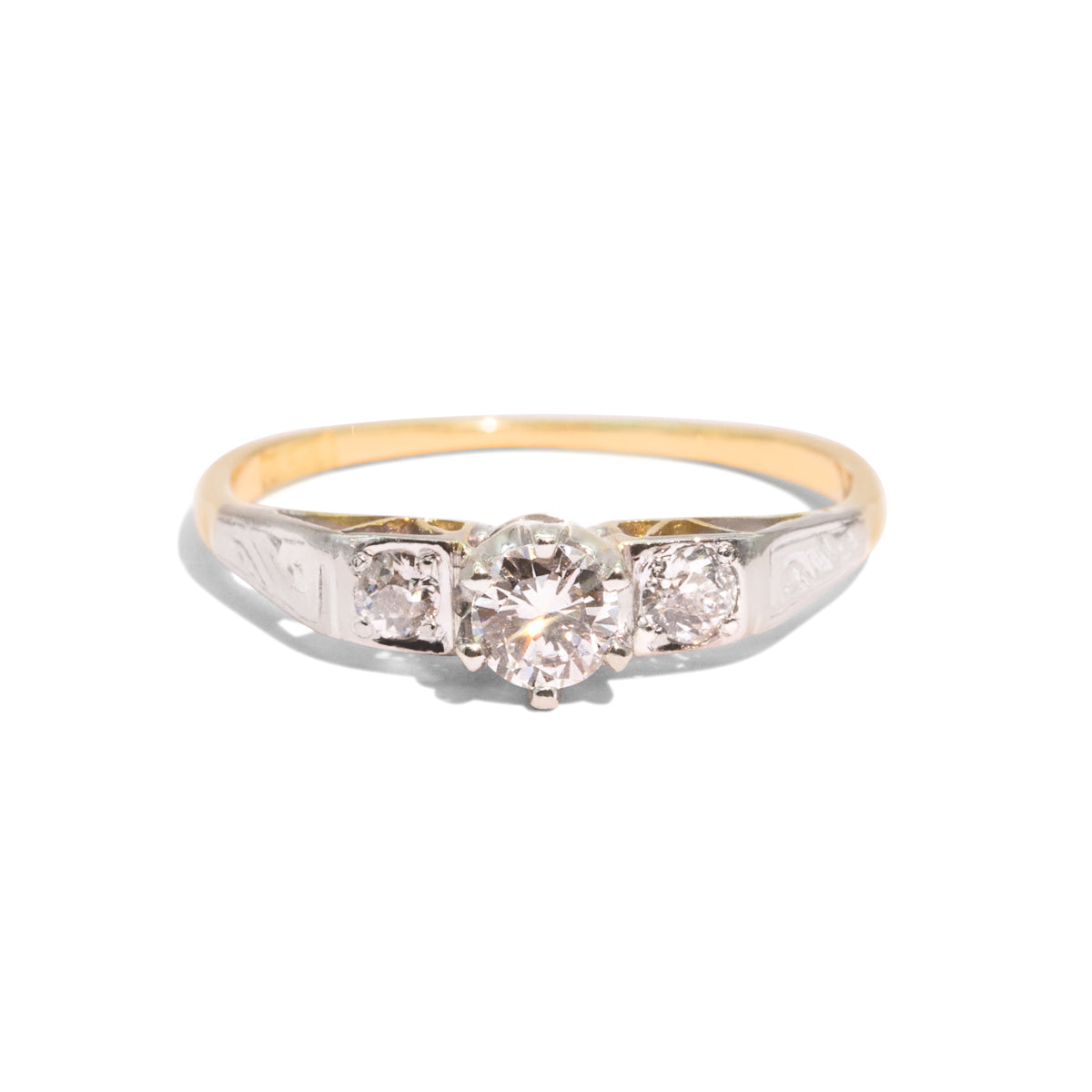 The Heidi Vintage Diamond Ring