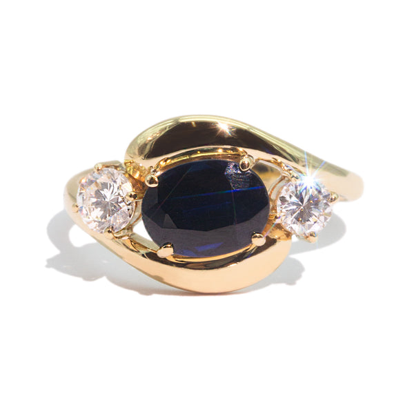 The Carlotta Vintage Sapphire & Diamond Ring