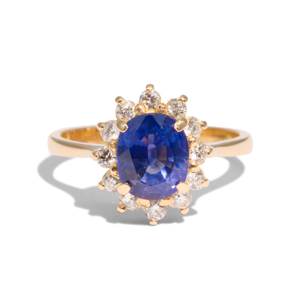 The Diana Vintage Sapphire and Diamond Ring