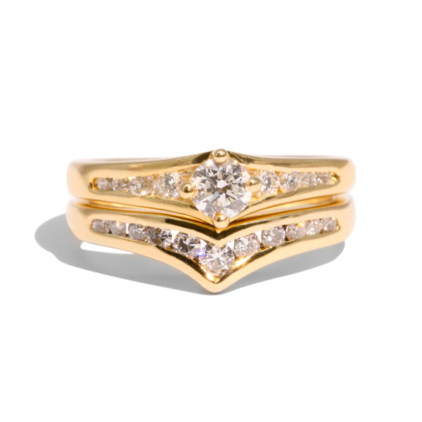 The Delilah Vintage Diamond Ring Set