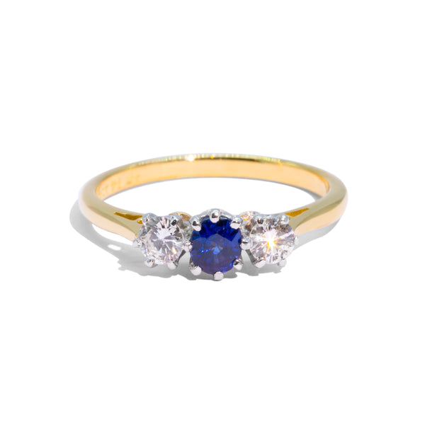 The Ruth Vintage Sapphire & Diamond Ring