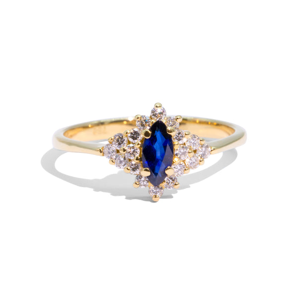 The Tigerlily Vintage Sapphire & Diamond Ring