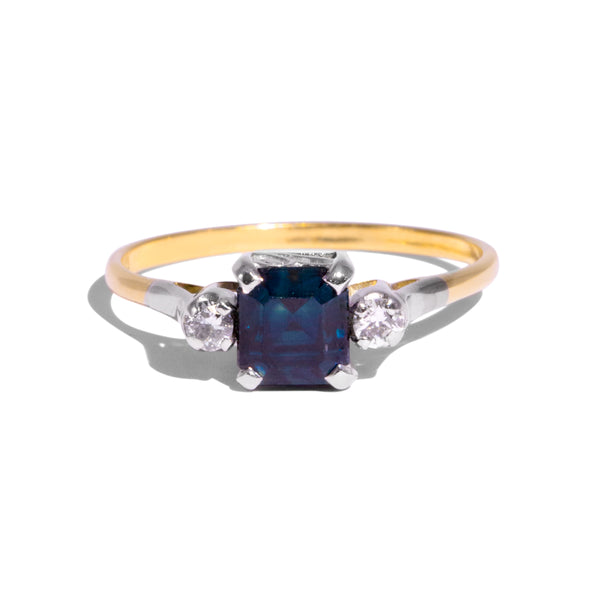 The Esme Vintage Sapphire & Diamond Ring