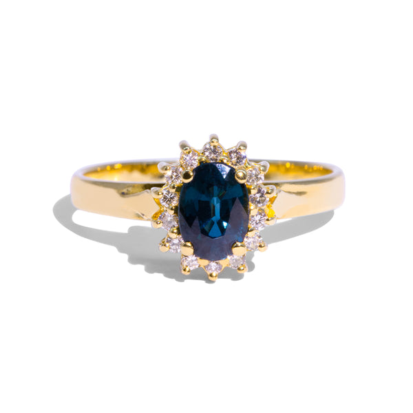The Clara Vintage Sapphire & Diamond Ring