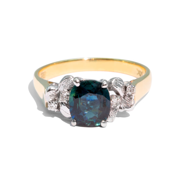 The Cadence Vintage Sapphire & Diamond Ring