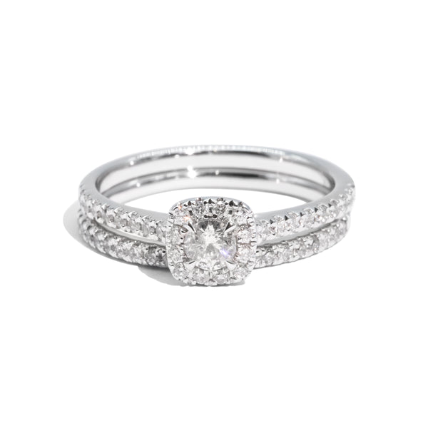 The Tulip Vintage Diamond Ring Set