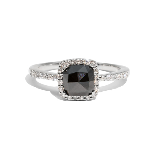 The Lovelace Vintage Black Diamond Ring