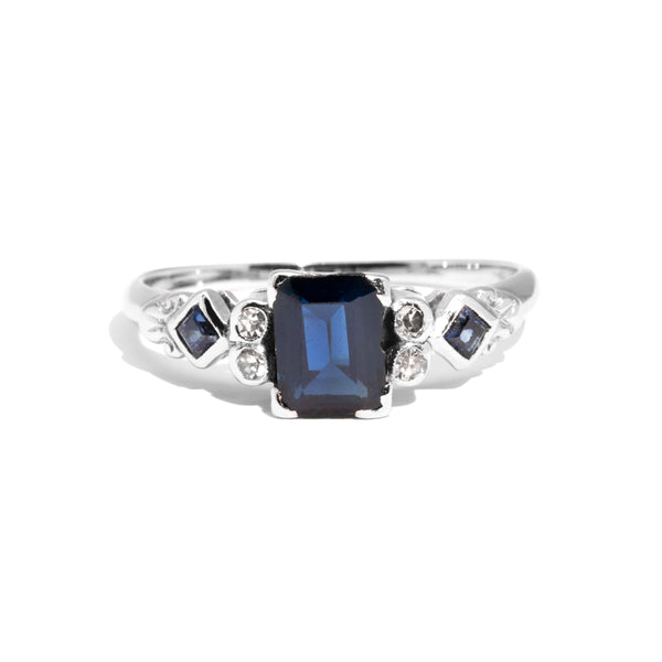 The Evangeline Vintage Sapphire & Diamond Ring