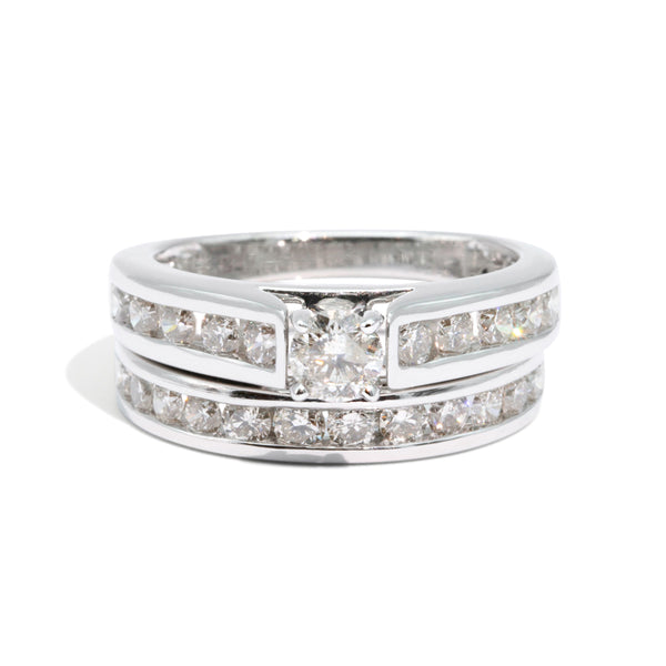 The Christine Vintage Diamond Ring Set