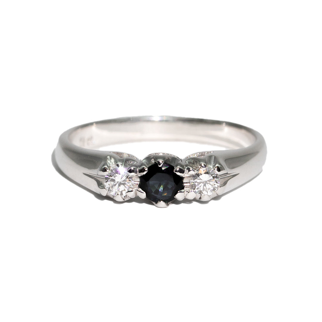 The Lydia Vintage Sapphire & Diamond Ring