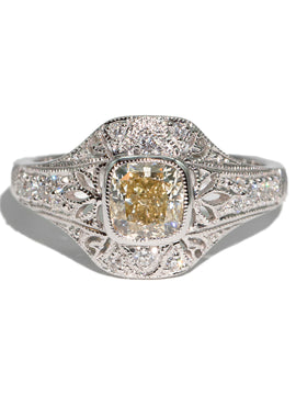 The Eve Fancy Yellow Diamond Ring