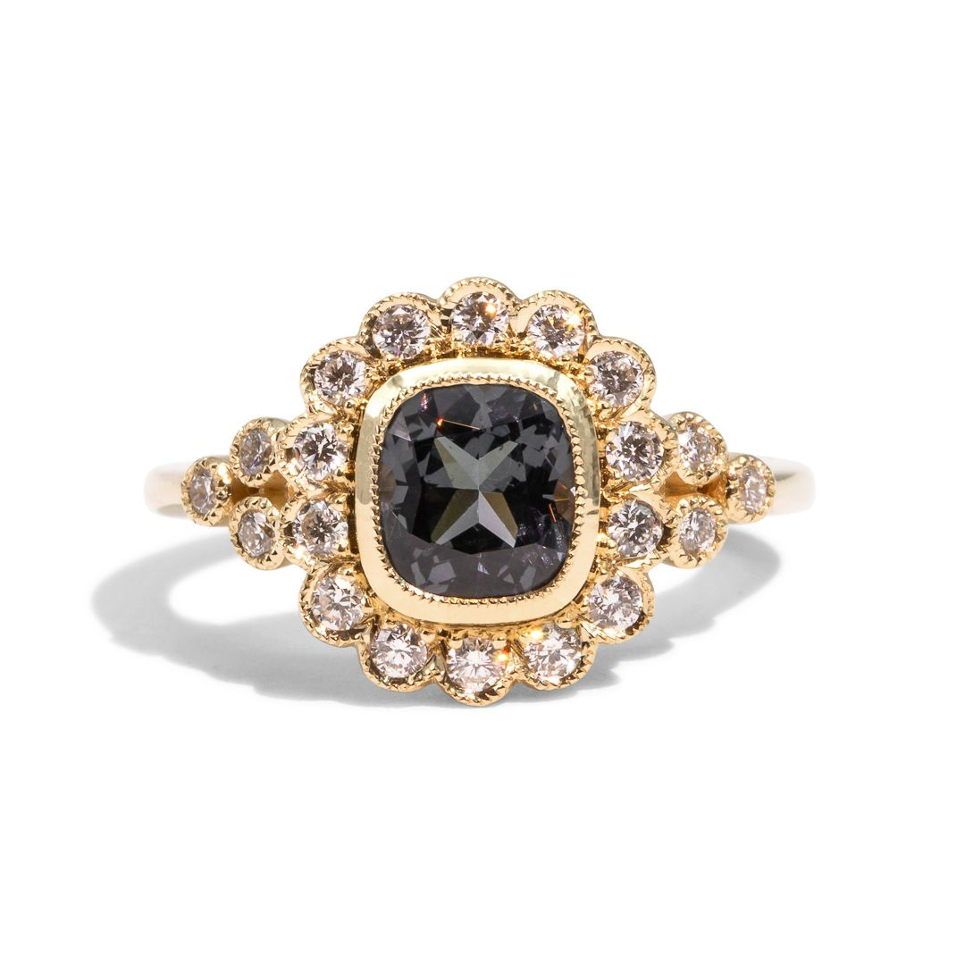 The Avery Spinel & Diamond Ring
