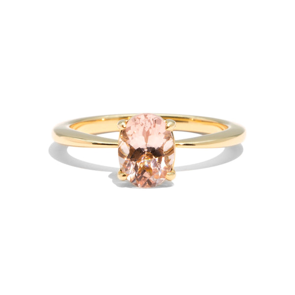 The Emily Oval Cut Morganite Ring 18ct Yellow Gold