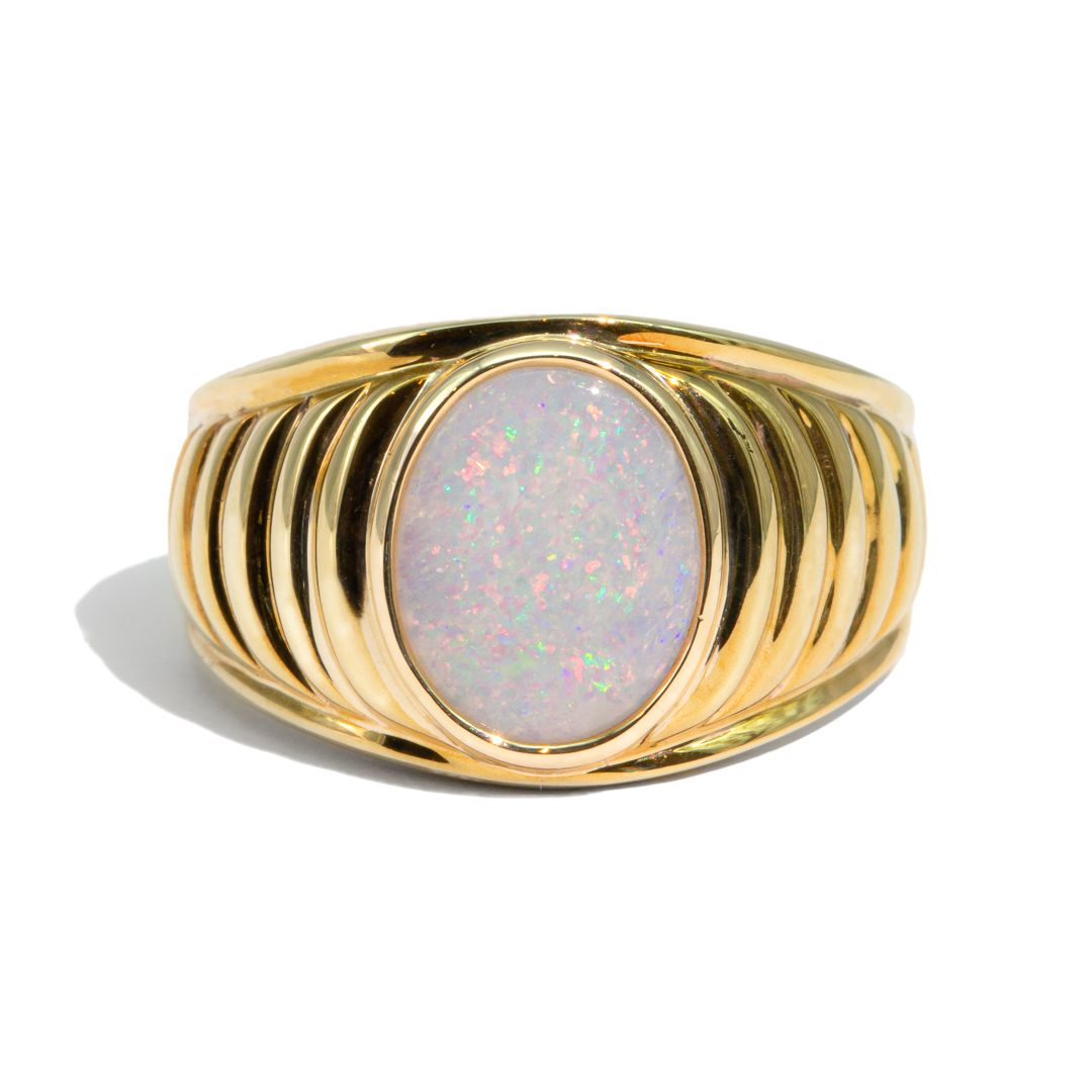 The Hera Vintage Opal Signet Ring