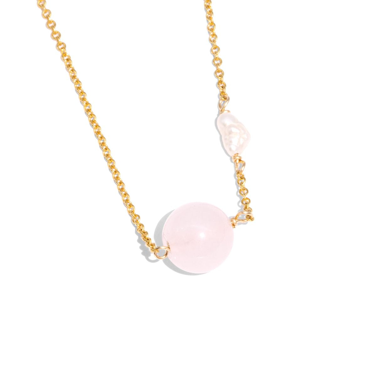 The Gold Pink Jelly Necklace