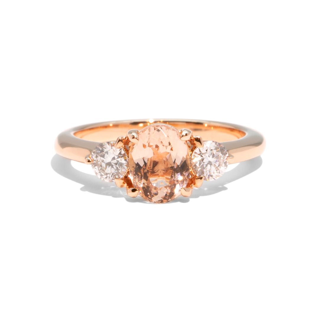 Create Your Ring - 1.18ct Pear Cut Morganite