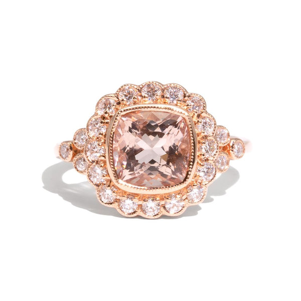 The Valerie Morganite & Diamond Ring