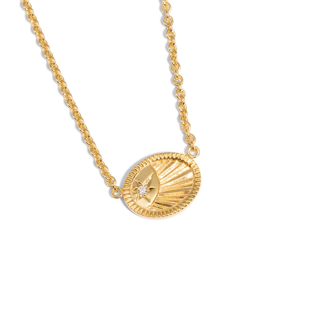 The Gold Diamond Ad Astra Necklace