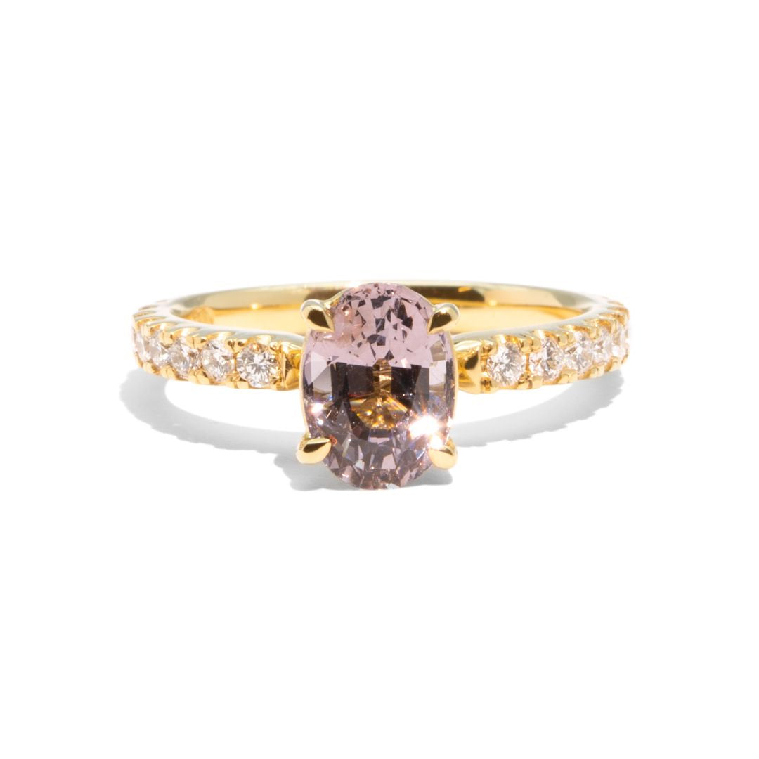 Create Your Ring - 1.35ct Oval Rose Cut Salt & Pepper Diamond