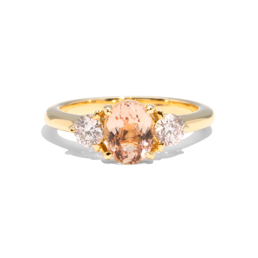 Create Your Ring - 0.84ct Round Cut Morganite