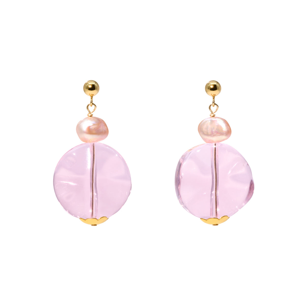The Gold Candy Cloud Stud Earrings