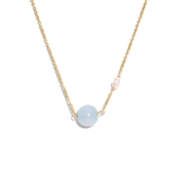 The Gold Blue Jelly Necklace