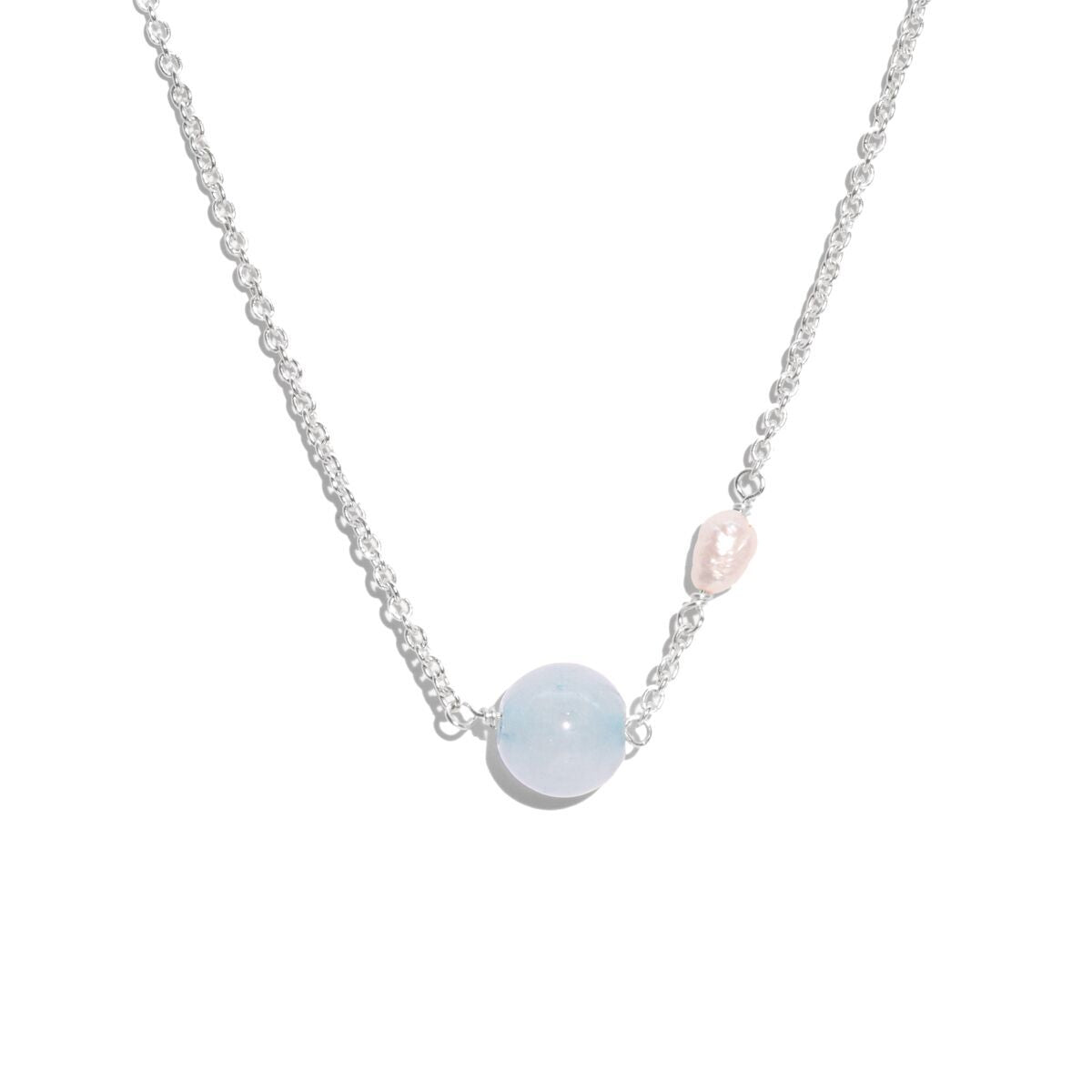 The Silver Blue Jelly Necklace