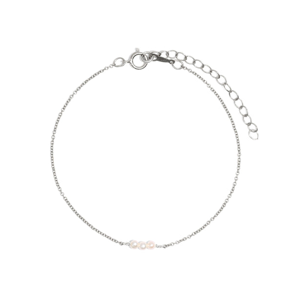 The Silver Pearl Trickle Bracelet